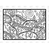 Paper Parachute Cling Rubber Stamps 4.75'X7.75' Sheet-Design Hills