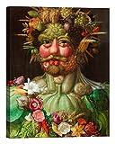 LuxHomeDecor Quadro Stampa su Tela con Telaio in Legno Giuseppe Arcimboldo Rudolf II of Habsburg as Vertumnus con Vernice Effetto Dipinto Misura 135x100 CM
