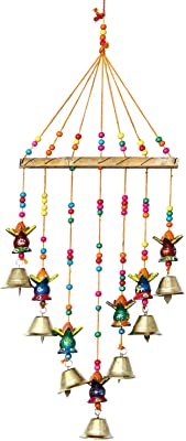 eCraftIndia Handcrafted Decorative Kalash Wall/Door/Window Hanging Bells