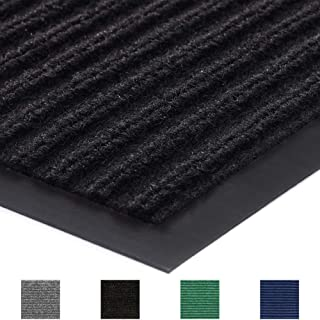 Gorilla Grip Original Commercial Grade Rubber Door Mat, 35x23, Heavy Duty, Durable Doormat for Indoor and Outdoor, Waterproof, Easy Clean, Low-Profile Mats for Entry, Patio, High Traffic, Black
