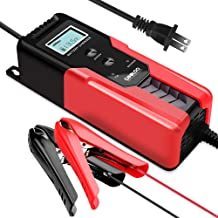 GOOLOO 6/12V 6A Smart Battery Charger and Maintainer Full Automatic 6-Stages Trickle Charging with Clamps for Car, Motorcycle, Lawn Mower, Boat, RV, SUV, ATV, Sealed Lead Acid Battery - Repair Battery