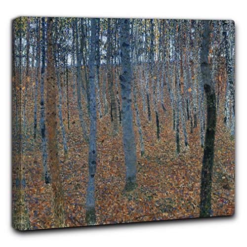 Niik Quadro + Telaio (BC) Foresta di faggi di Gustav Klimt 90 x 90 x 4 cm Falso d'autore Stampa su Tela