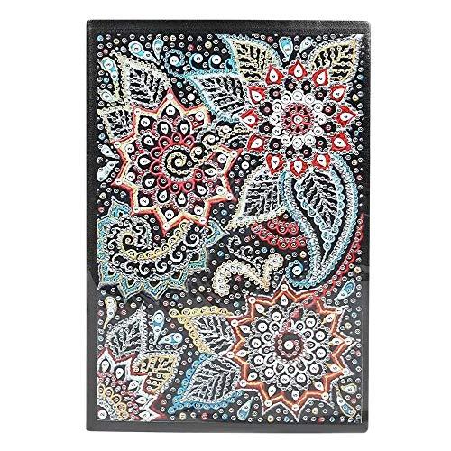 Huante Bricolage 5D flor especial en forma de diamante, pintura 60 páginas, A5, libro de diario