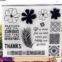 花の羽透明クリアシリコーンスタンプ/DIYスクラップブッキング/フォトアルバム用シール装飾的なクリアスタンプシート