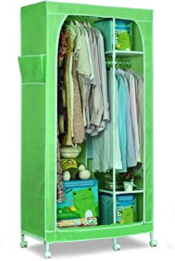 DR - Cloth Wardrobe Simple Assembly Wardrobe Storage Locker Dormitory Single Foldable Wardrobe