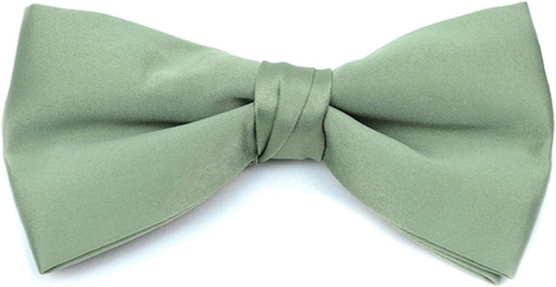 Men's Pre-tied Clip On Bow Tie - Formal Tuxedo Solid Color