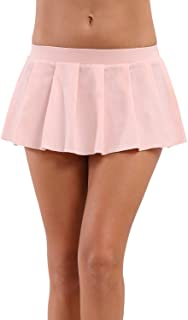 Women Sexy Role Play Pleated Mini Skirt Solid Ruffle Lingerie Sleepwear
