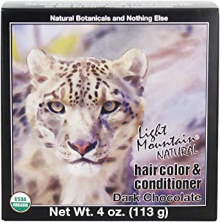LIGHT MOUNTAIN Hair Color Hair Color Dark Chocolate, 0.02 Pound
