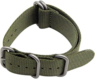26mm High-end Superior NATO Style Ballistic Nylon Watch Band Strap Replacement for Men Braided