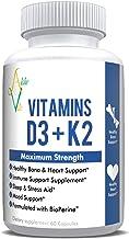 Sponsored Ad - AlcheVita Vitamins D3 (5000 IU) + K2 (mk7) + Calcium (210mg)- Maximum Strength Complex (3-in-1 Formula) - 6...