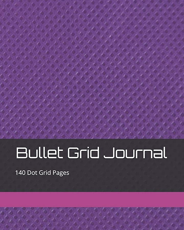 できればテラス明快Bullet Grid Journal: 140 Dot Grid Pages, 8x10, Professionally Designed