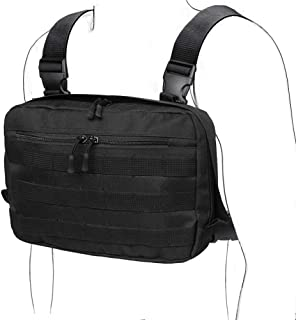WYNEX Tactical Chest Rig Bag, Recon Kit Bags Combat EDC Front Pouch for Wargame