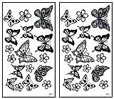 Mini Tattoos 2 Sheets Butterfly Waterproof Temporary Tattoo Festival Flash Fake Tattoo Body Art Make up Neck Shoulder arm Tattoos Cartoon Stickers Women Teens Girls Fashion Fun Party etc. (14)