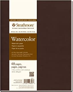 """Strathmore Softcover Art Journal, White Watercolor, 7.75""""x9.75"""""""