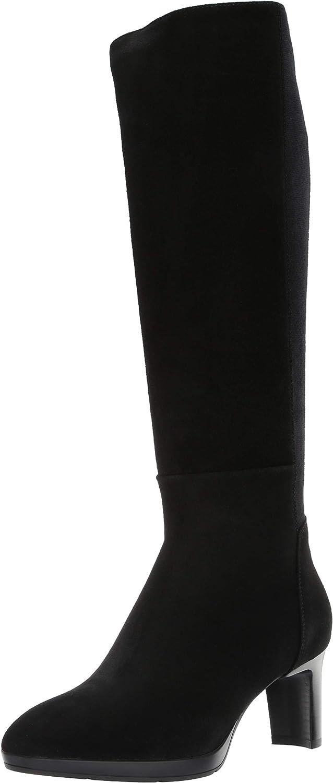 Aquatalia Women's Dale Stretch Suede/Elastic Knee High Boot,