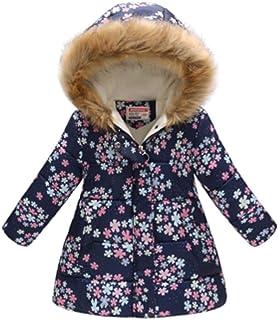 PANPANY Giacca del Mantello del Cappotto di Inverno Bambino Giacche di Piuma Giubbotti per Ragazze Inverno Cappotti con Cappuccio
