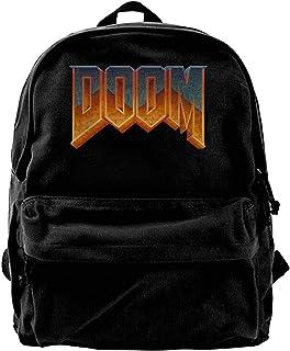 Mochila de lona con logotipo de Doom-Mochila para gimnasio, senderismo, portátil, bolsa de hombro para hombres y mujeres