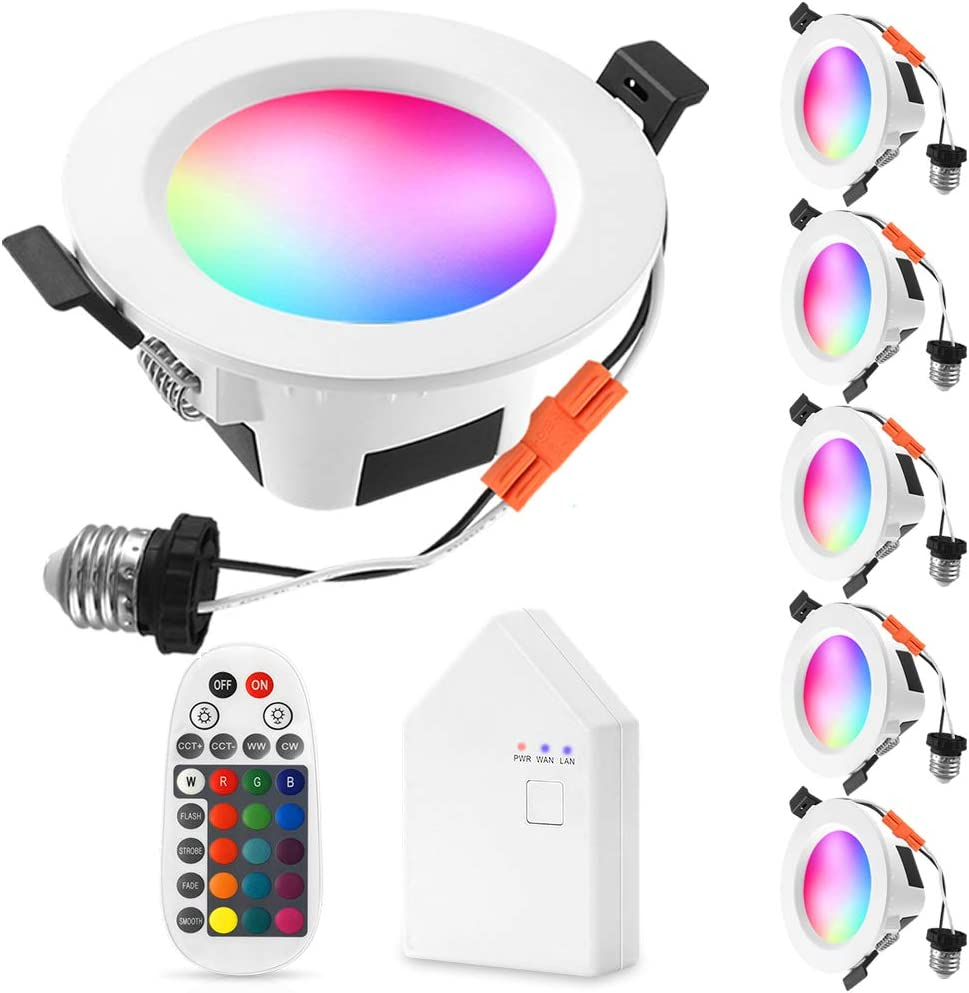 Smart Recessed LED Lighting Sumaote Bluetooth Fashionable Over item handling WiFi Inch 4 9W
