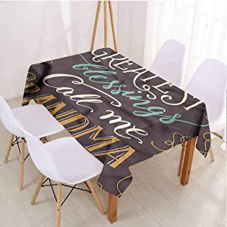 VICWOWONE Lightweight Rectangle Tablecloth Grandma Picnic Cloth Greatest Blessing Quote,Rectangle - W70 x L120 inch