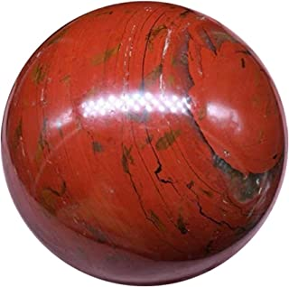 QueenBox® 70-85mm Natural Red Jasper Healing Ball Polished Crystal Sphere Collectibles Decoration Gift