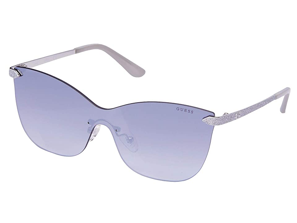 GUESS GU7549 (Shiny Light Nickeltin/Smoke Mirror) Fashion Sunglasses