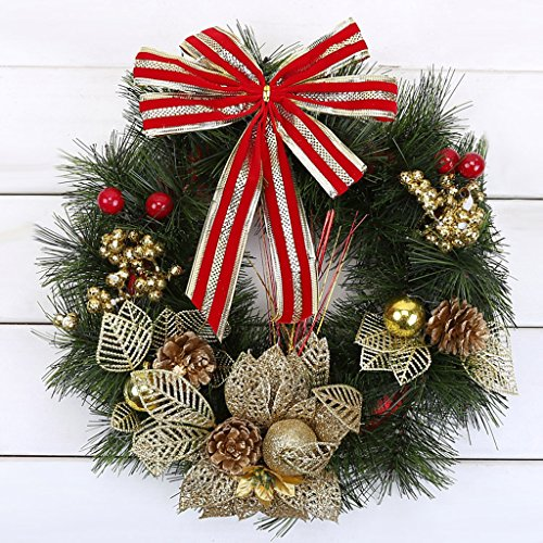 Buy Discount LAOHAO Christmas Decoration Christmas Wreath 33CM Pine Needle Wreath Window Decoration ...