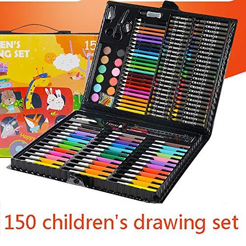 LCY Kinder-Kunst-Aquarell Stift Satz Kinder Kunst Box-Set Buntstifte 150 PCS Set Zeichenwerkzeuge Malerei Set Kinder Geschenk