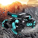 RC Tank Kids Military Toys - 2000pcs Water Shots 4WD Hobby RC Cars for Adults & Children, 1:12 Scale 6000mAh Rechargeable Battery 4x4 Monster Truck, Nerf Tank Cool Toy Gift for Boys & Girls Age 4~18