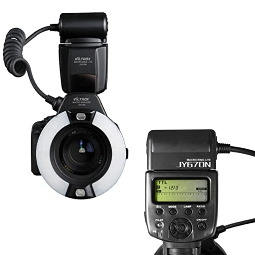 VILTROX JY670N i-TTL Macro Ring Flash Speedlite Light Flashgun for Nikon SLR Camera close-up dental/medical work
