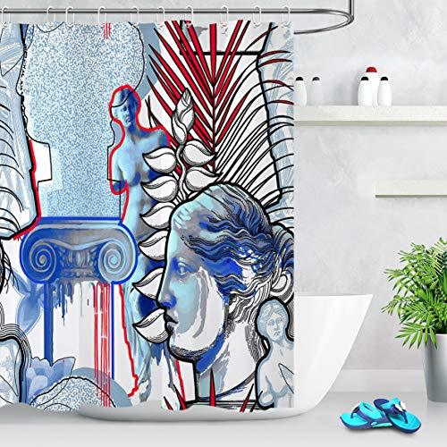 123456789 Tropical Exotic Leaf Venus Duschvorhang Wasserdichtes Stoff Badezimmer