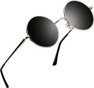 Retro Polarized Round Sunglasses for Men Vintage Sunglasses Women FD3013