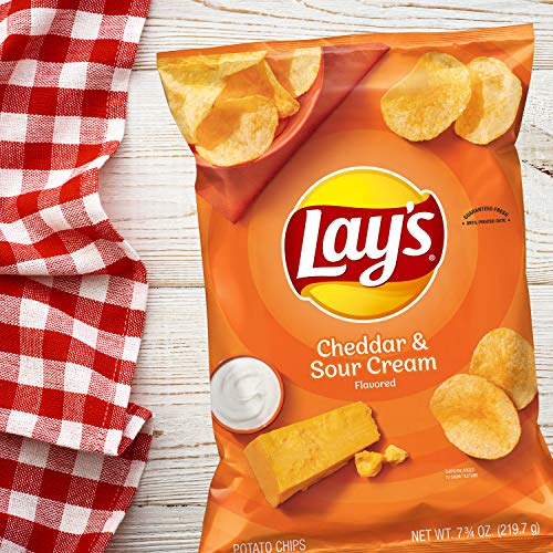 Lay's Potato Chips, Cheddar & Sour Cream Flavor, 7.75oz Bag (Packaging May Vary)
