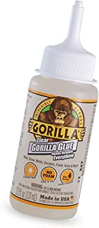 Gorilla Clear Glue, 3.75 Ounce Bottle, Clear (Pack of 1) - New Version