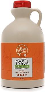 comprar comparacion Jarabe de arce BIO - Grado A (Dark, Robust taste) - 1 litro (1,35 Kg) - Miel de arce biológico - Sirope de arce - Organic ...