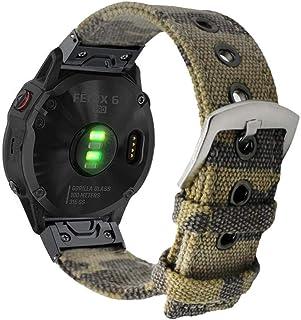 YOOSIDE Watch Band for Fenix 5/Fenix 6,22mm Quick Fit Canvas Camouflage Wristband Strap for Garmin Fenix 6 Pro,Instinct,Fe...