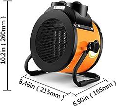 Calentador De Ventilador Industrial Calentador De Espacio 2KW / 3KW Diseño De 3 Velocidades Diseño De Ajuste De Ángulo Calefacción PTC Protección Automática De Temperatura Constante para Taller, Gra