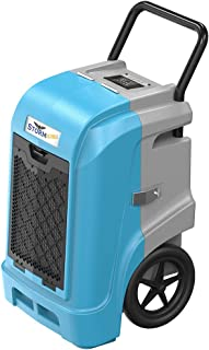 AlorAir Storm Ultra Industrial Dehumidifier 190 PPD, cETL, LCD Display, 5 Years Warranty, LGR Commercial Dehumidifier with Pump, Epoxy Coating on Coil, Designed for Flood Restoration (Blue)