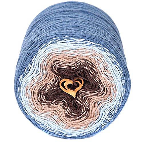 ZuzuHobby グラデーション コットン糸 手編み用 詰め合わせ ケーキマルチカラー かぎ針編みに最適 インディカ ソフト糸 かぎ針編み用 10オンス/984ヤード (811)