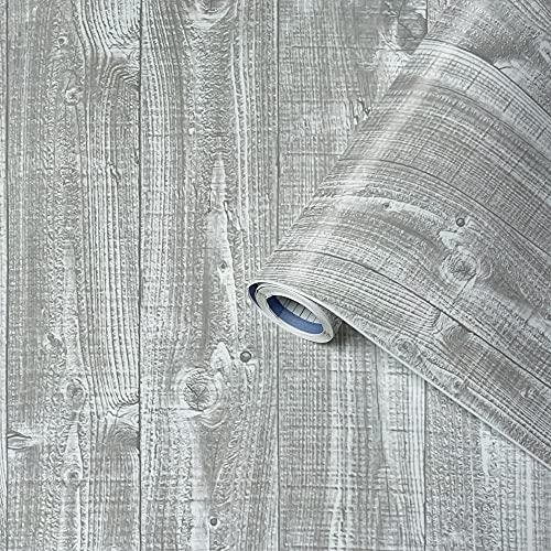 Venilia 53338 Film adhésif, PVC, PFIX Plancher Gris, 45 x 200 cm