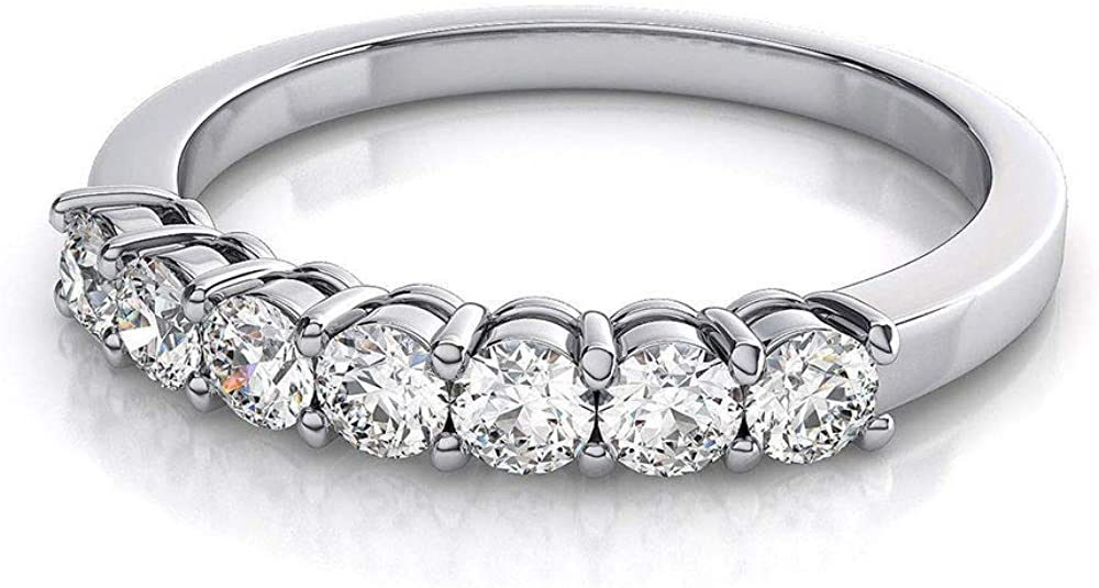Clara Pucci 1.25 Ct Round Cut Halo Pave Bridal Engagement Promise Wedding Anniversary Ring Band 14K White Gold