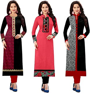 bb4d439fb0 Pramukh Fashion Semi Stichead Pack of 3 Kurtis Combo(1002.1017.1015S)