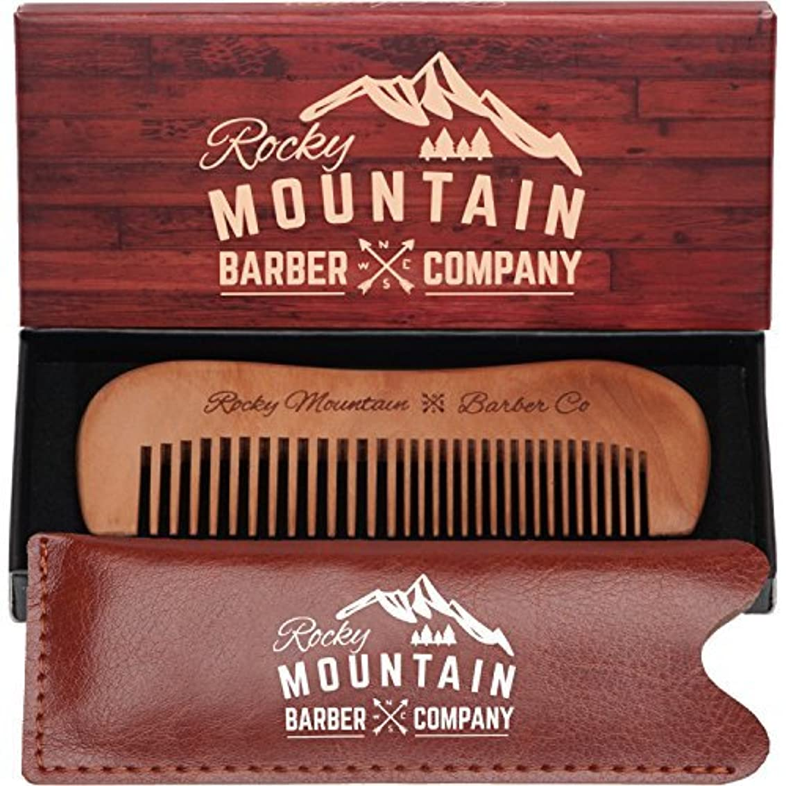 切り下げソブリケット長さTravel Hair Comb - Travel Size Comb with Fine and Medium Tooth for Mustache, Beard and Hair With Pocket Carrying Case - Anti-Static and Tangle-free. [並行輸入品]