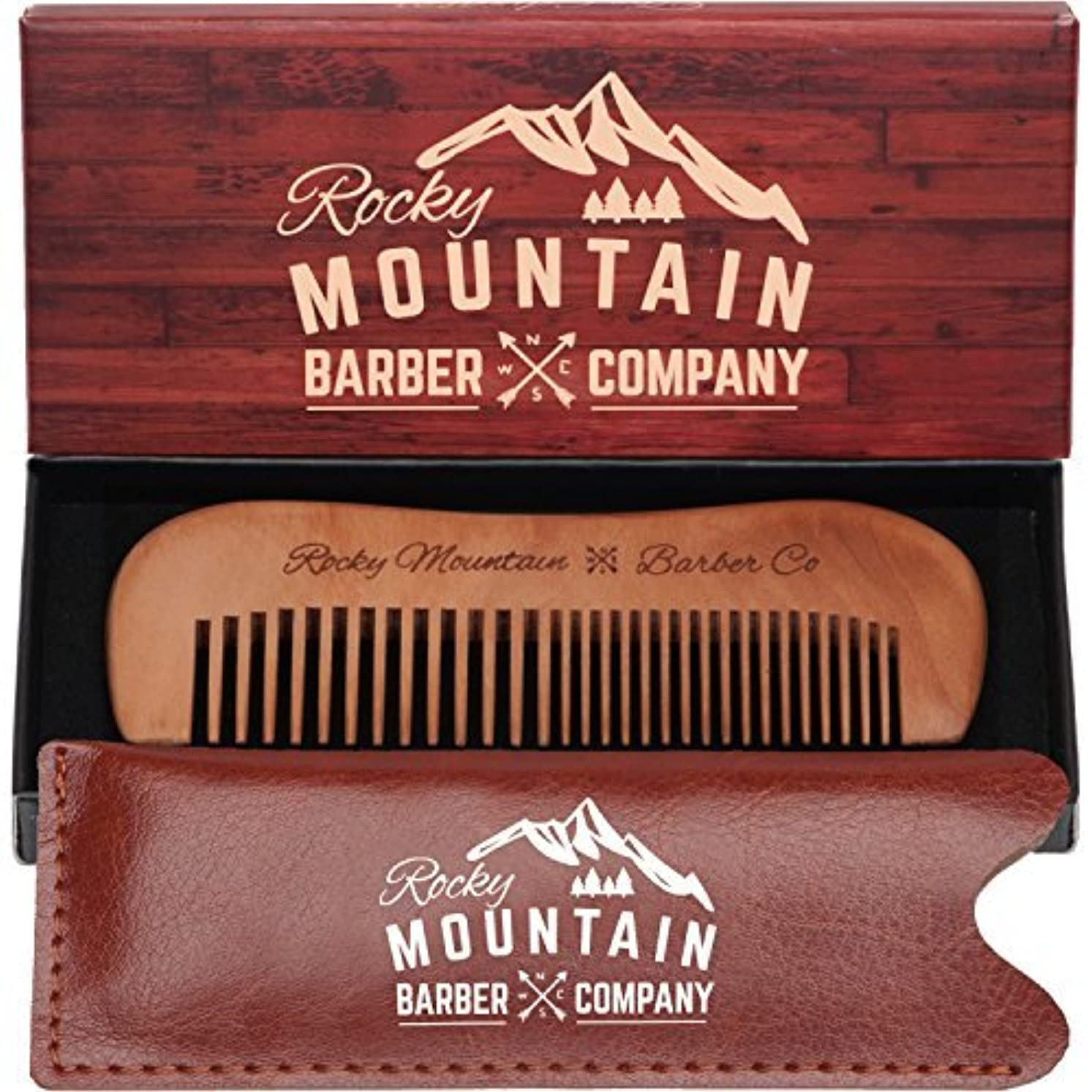 分解する遺跡重要な役割を果たす、中心的な手段となるTravel Hair Comb - Travel Size Comb with Fine and Medium Tooth for Mustache, Beard and Hair With Pocket Carrying Case - Anti-Static and Tangle-free. [並行輸入品]