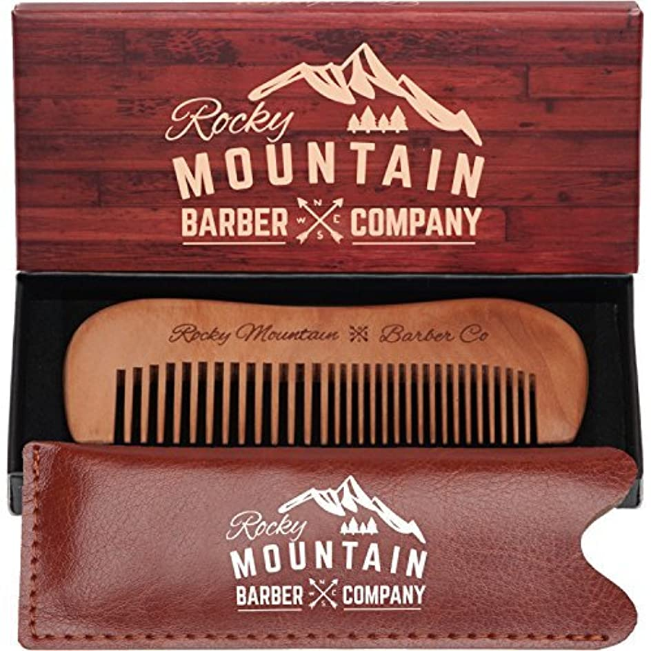 Travel Hair Comb - Travel Size Comb with Fine and Medium Tooth for Mustache, Beard and Hair With Pocket Carrying Case - Anti-Static and Tangle-free. [並行輸入品]