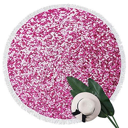 Perfecone Candy - Toalla de playa redonda, color rosa
