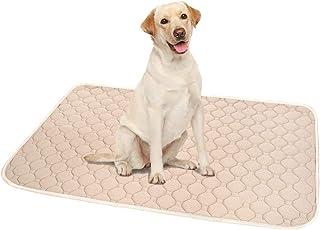 ペットシーツ 洗える 猫 犬用 おしっこパッド ペット用 トイレ下敷きマット 速乾 洗える 脱臭 抗菌(ベージュL 二枚セット)