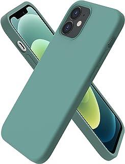 ORNARTO kompatibel mit iPhone 12   12 Pro 6,1 Silikon Case, Hülle Ultra Dünne Voller Schutz Flüssig Silikon Handyhülle Schutz für iPhone 12 Pro/iPhone 12(2020) 6,1 Zoll Piniengrün