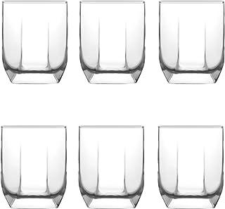 LAV 6-teiliges Whisky-Set Design Whisky-Glas aus hochwertigem Glas 320 ml spülmaschinenfest Serie TUANA