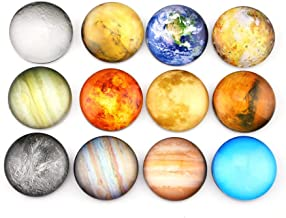 Planetary Refrigerator Magnets - 12 Pack Fridge Magnets, 1.35 Inches Diameter, Best Housewarming Home Decorations Gift.