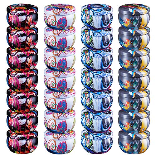 28 PCS DIY Candle Tins Craft Tools, Round Containers with Slip-On Lids& Free Wicks for Party Favors, Candle Making, Spices, Gifts